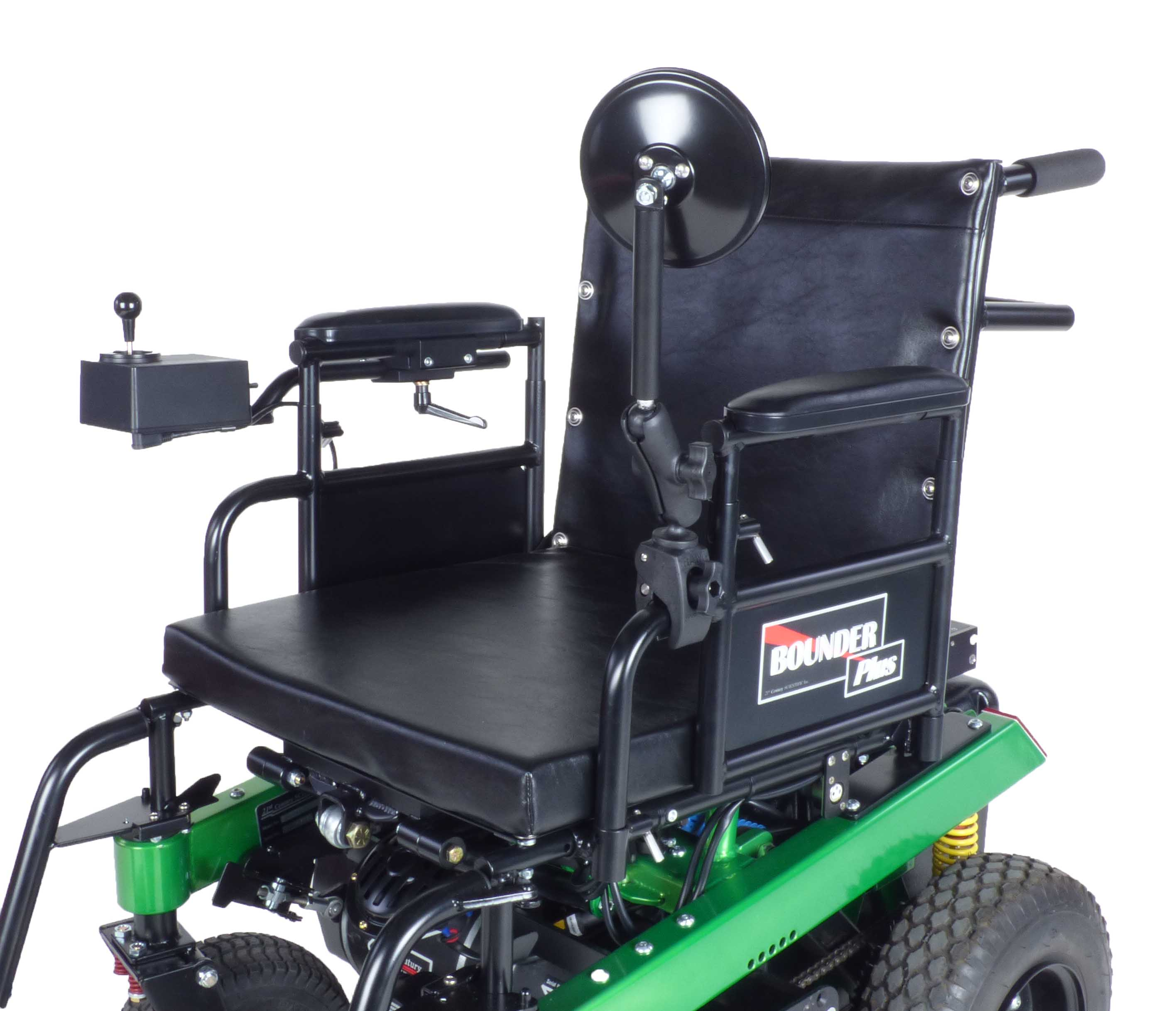 Bounder Plus H-frame Power Wheelchair with mirror