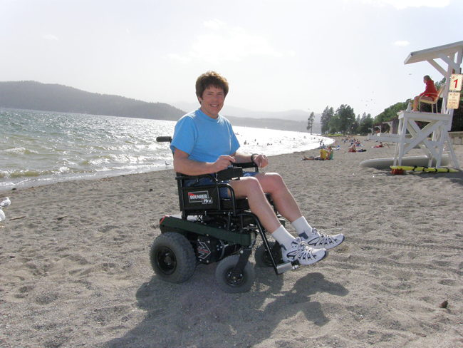BOUNDER Plus Power Wheelchair at the Beach