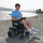 BOUNDER Power Wheelchair at the beach