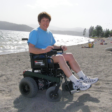 Ron Prior testing Bounder Plus at the beach