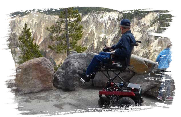 Bounder Plus with seat elevator at Yellowstone Park